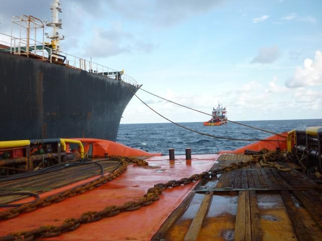 CORAL SEA FOS & CARIBBEAN FOS assisting vessel