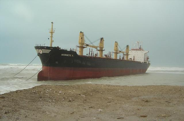 Five Oceans Salvage - MV GEORGETE K aground