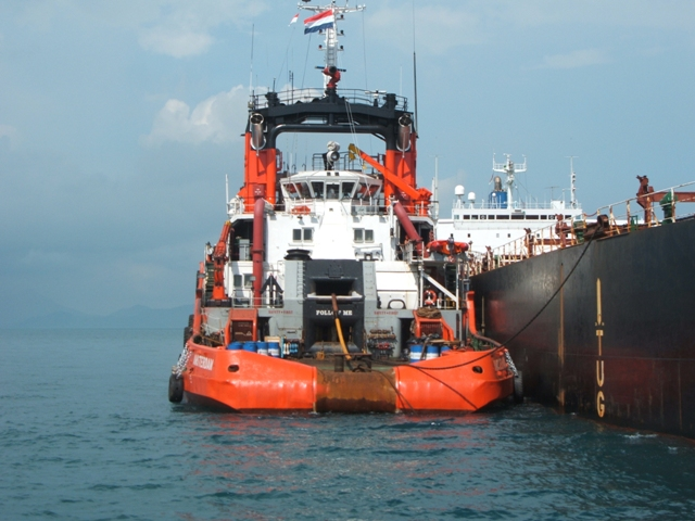 Five Oceans Salvage - Tug assisting MV AGHIOS MAKARIOS