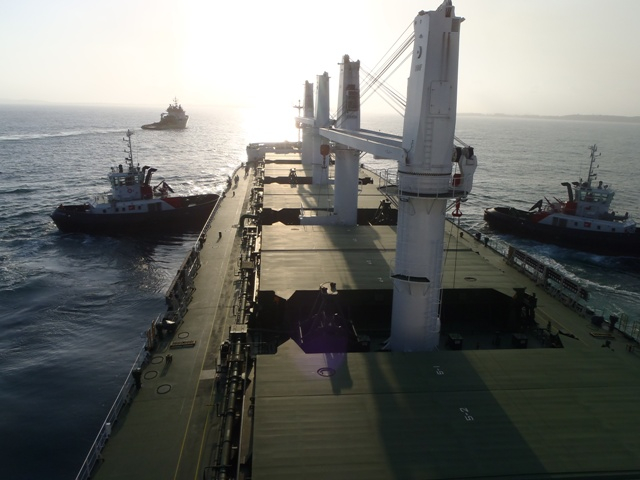 Five Oceans Salvage - MV AKIBA salvage operation
