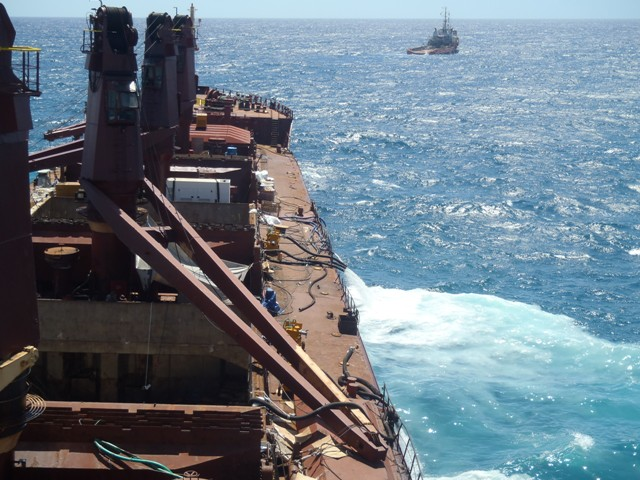 Five Oceans Salvage - Refloating attempt