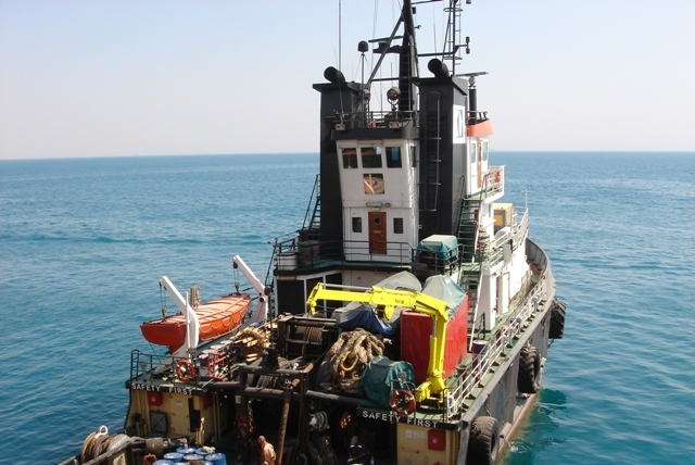 Five Oceans Salvage - MED FOS standing by