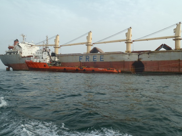 Five Oceans Salvage - ARABIAN SEA FOS alongside casualty