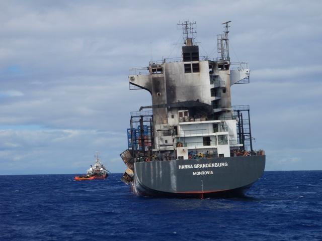 Five Oceans Salvage - MV HANSA BRANDENBURG salvage operation