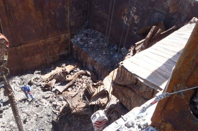 Five Oceans Salvage - Burnt containers