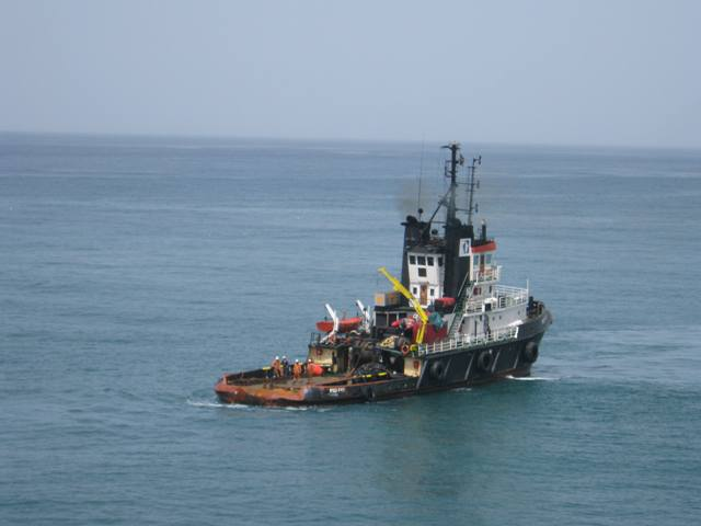 Five Oceans Salvage - MED FOS standing-by MV INSPIRATION I