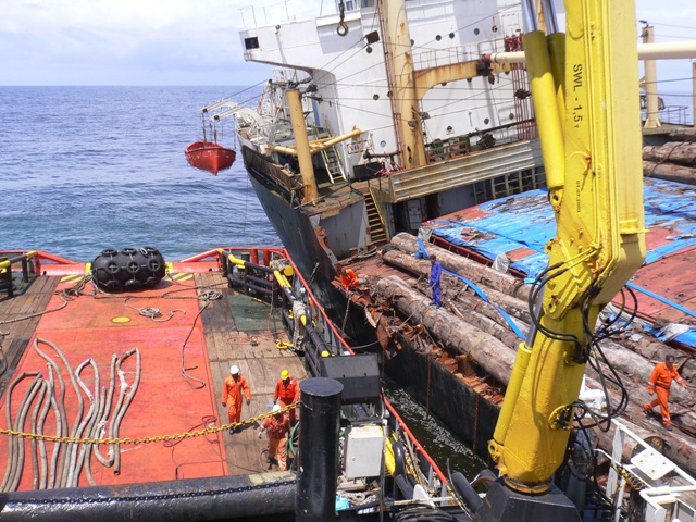 Five Oceans Salvage - RED SEA FOS alongside MV MEDEA K