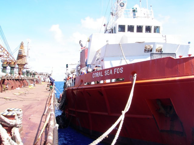 Five Oceans Salvage - CORAL SEA FOS alongside casualty