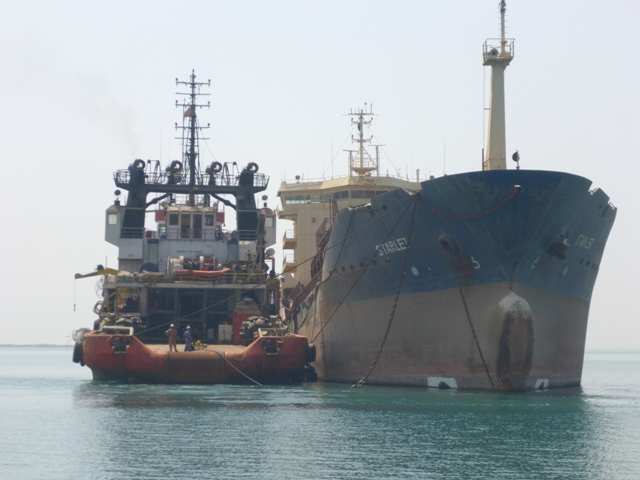 Five Oceans Salvage - IONIAN SEA FOS alongside casualty