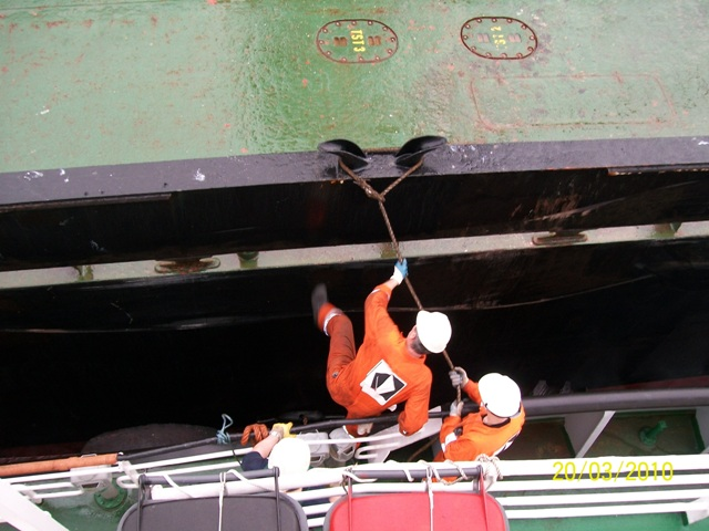 Five Oceans Salvage - Salvage team onboard MV THEODORE JR
