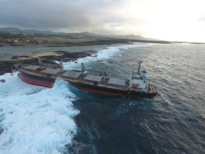 Five Oceans Salvage - M/V BENITA heavily aground