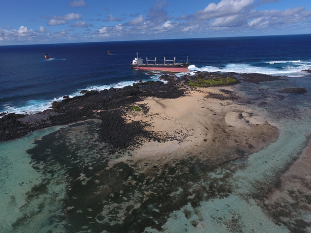 Five Oceans Salvage - M/V BENITA aground off Le Bouchon, Mauritius